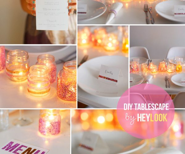 DIY Glitter Sparkly Tablescape
