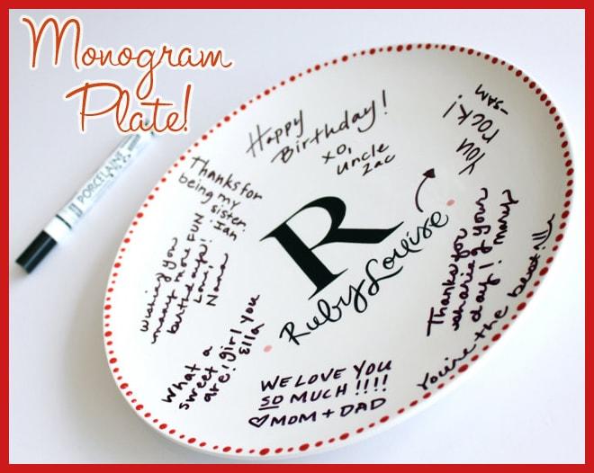 monogram plate