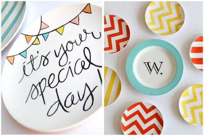 patterned party plates
