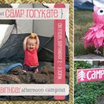 Pink Campout 1st Birthday Party