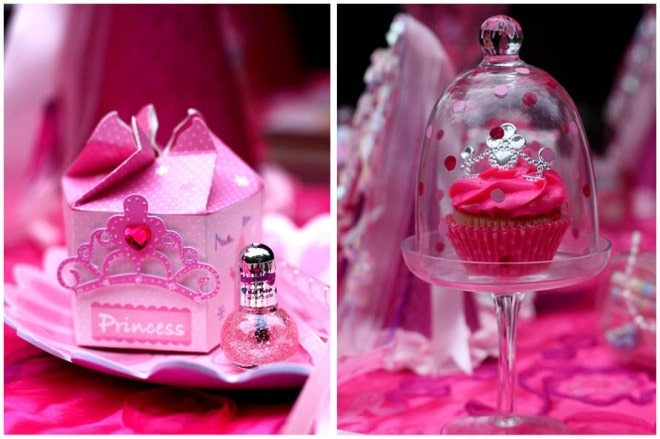 princess birthday party table 2