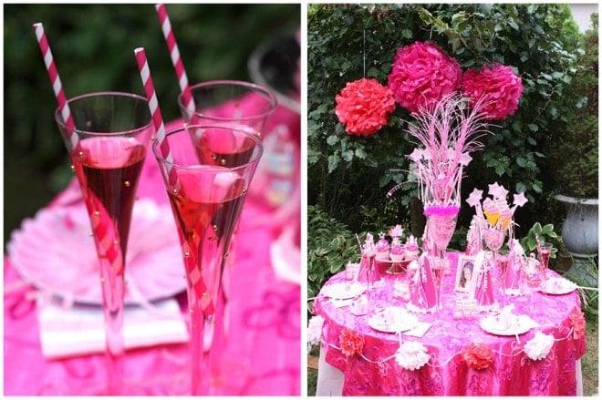 princess birthday party table 4