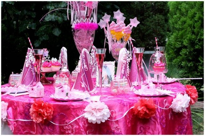 princess birthday party table