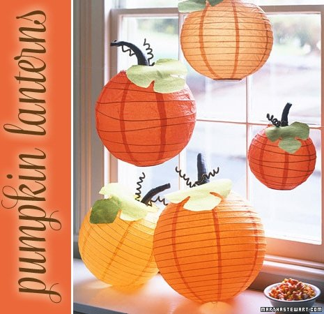 DIY: Pumpkin Paper Lanterns!