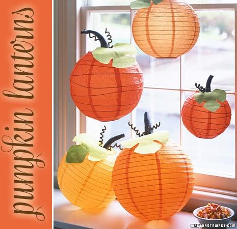 pumpkin paper lanterns