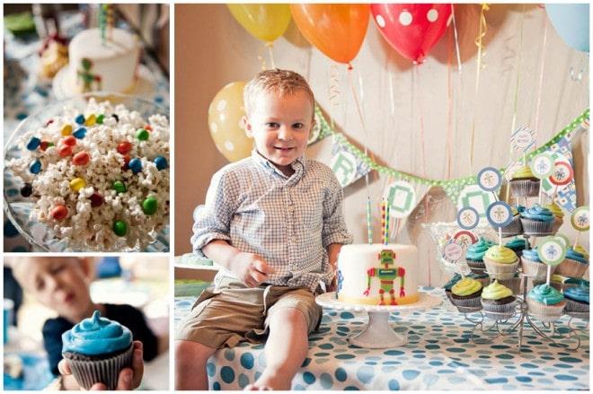 robot themed boy's birthday party 3
