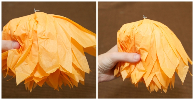 step 4 diy tissue owl pom