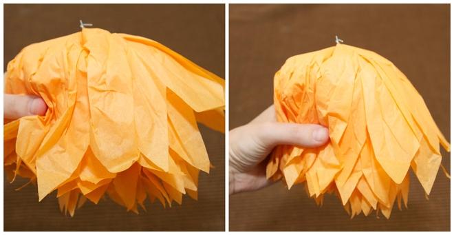 step 4 diy tissue owl pom