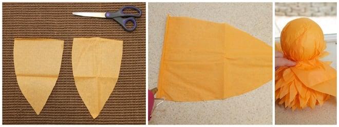 step 6 diy tissue owl pom