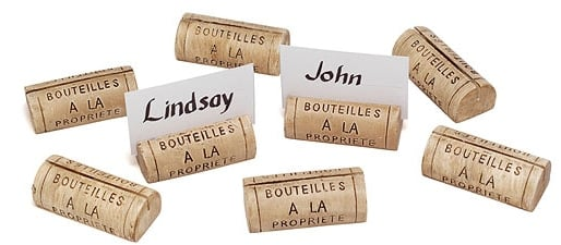 wine cork place holders