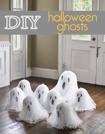 DIY Halloween White Ghosts