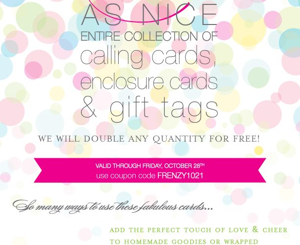 Twice as Nice Sale {Gift Tags, Calling + Enclosure Cards}