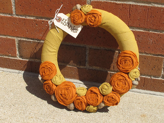 autumn rosette wreath