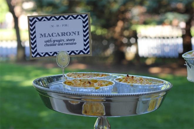 macaroni and cheese baby shower