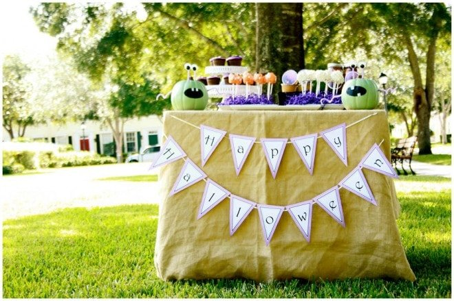 mummies little monsters halloween tablescape