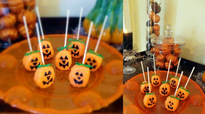 Pumpkin Marshmallow Pops Split