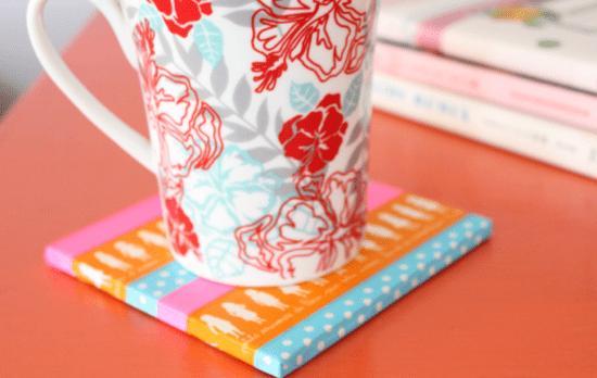 washi tape coasters