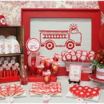 girls firetruck birthday party picture 1