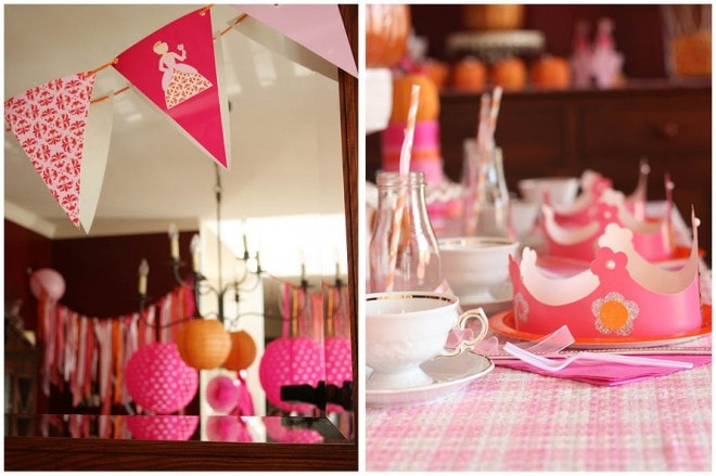 girly pumpkin princess tea party decorations picture 1