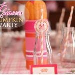girly pumpkin princess tea party decorations picture 2