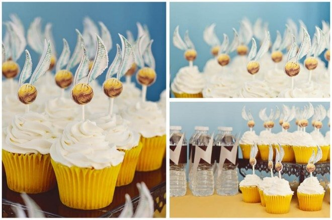 harry potter birthday party pictures cupcakes