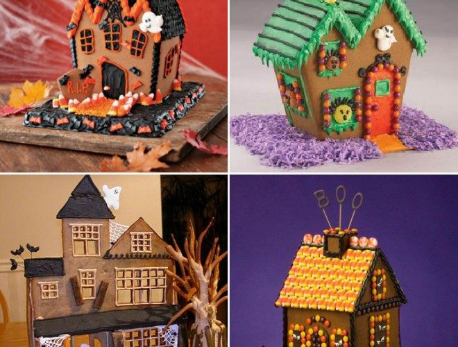 Haunted Halloween Gingerbread Houses!