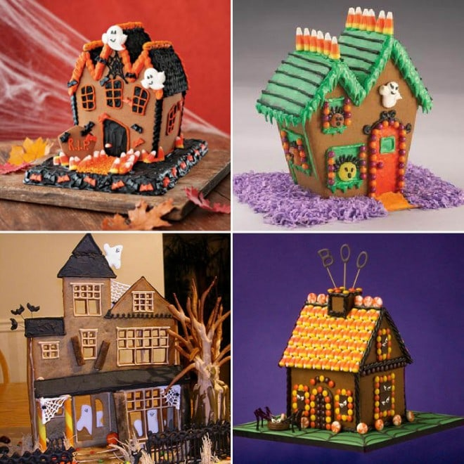 haunted gingerbread halloween houses