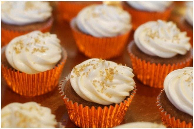 lil pumpkin baby shower cupcakes