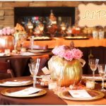 lil pumpkin baby shower tablescapes