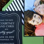 pizzazzerie wedding save-the-dates by custom paper works
