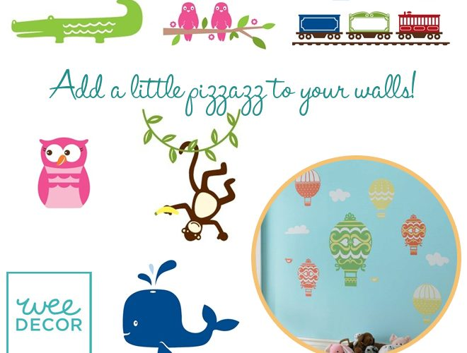 {GIVEAWAY} Decorate your walls with weeDecor!
