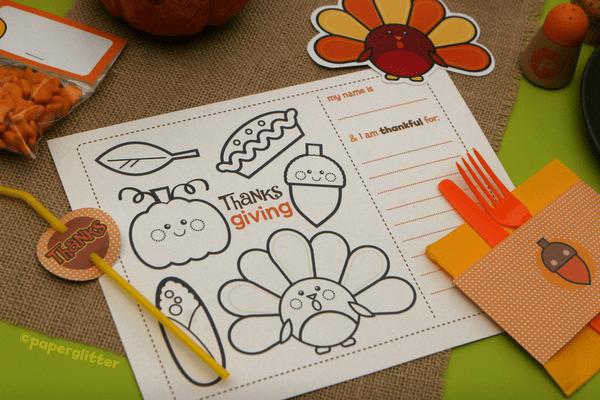 free thanksgiving printables kids