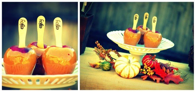 candy apples fall movie night