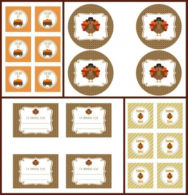 free thanksgiving fall movie night printables