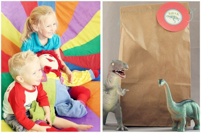 dinosaur birthday party favors pictures