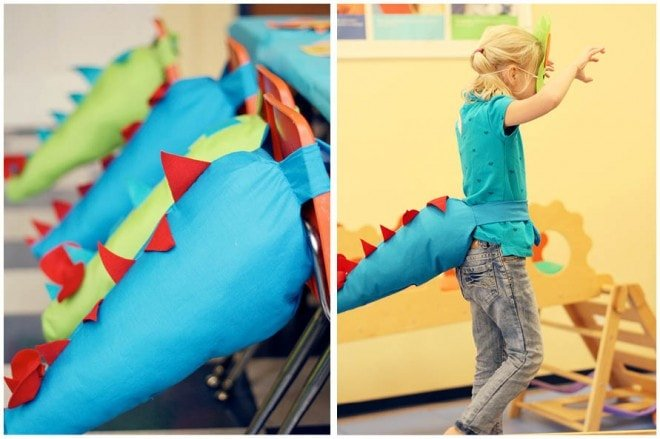dinosaur tails for birthday party
