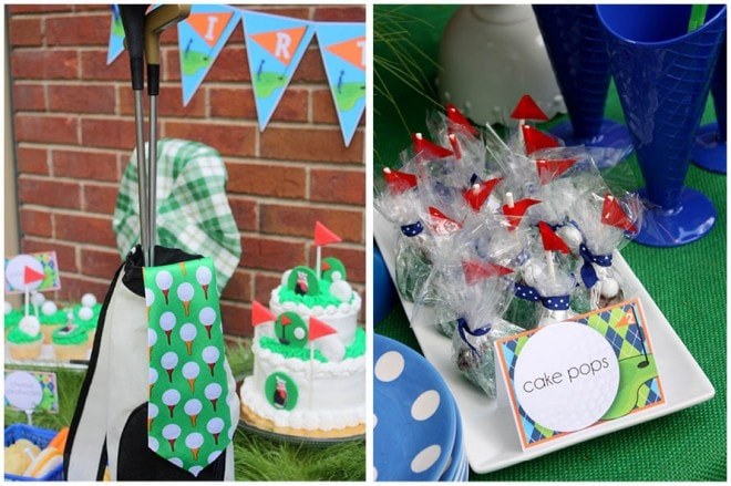 golf birthday party 7