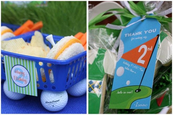 golf birthday party