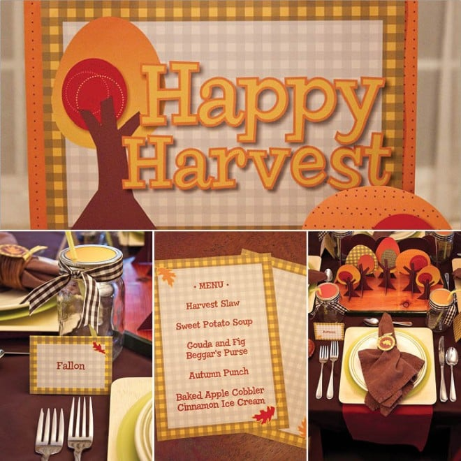happy harvest fall party by piggy pank parties
