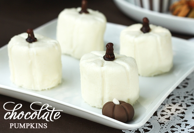 white chocolate marshmallow pumpkins