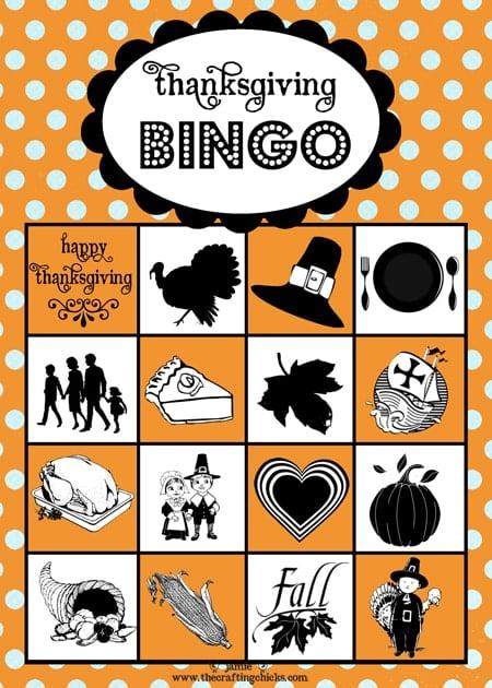 free printable bingo for thanksgiving