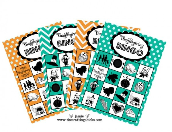 free thanksgiving bingo printable