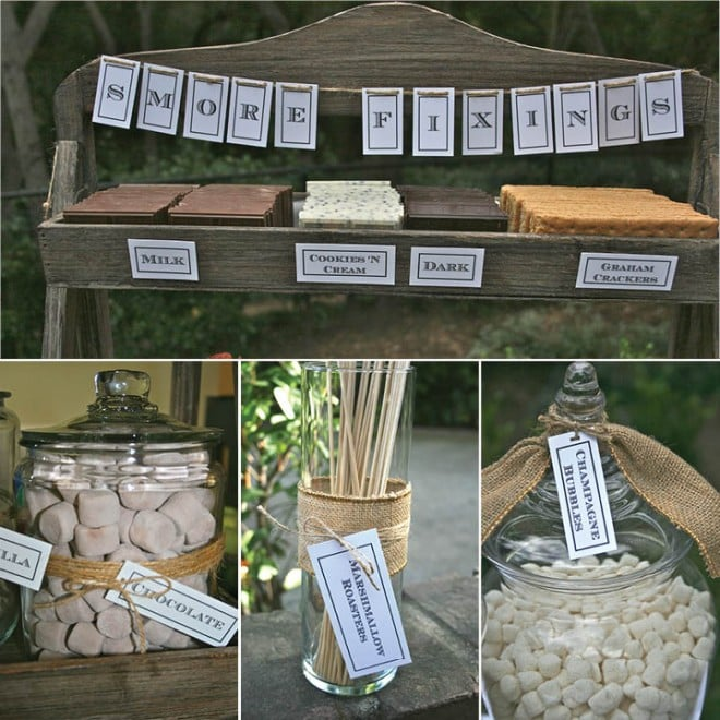 smores bar picture ideas
