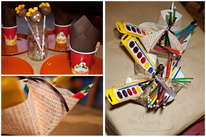 thanksgiving activity table for kids