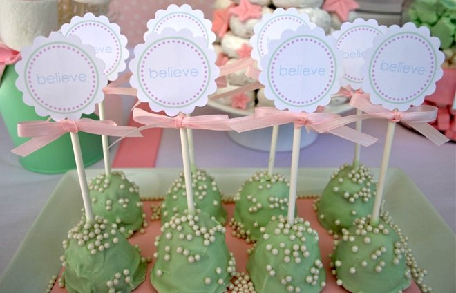 tree trimming cake pops