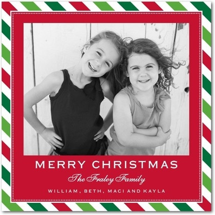 Tiny Prints Striped Christmas Card