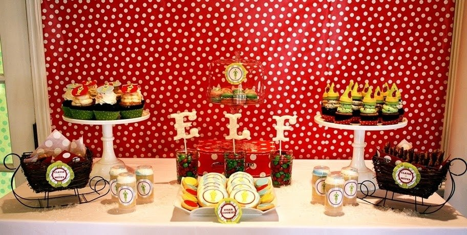 buddy the elf holiday tablescape