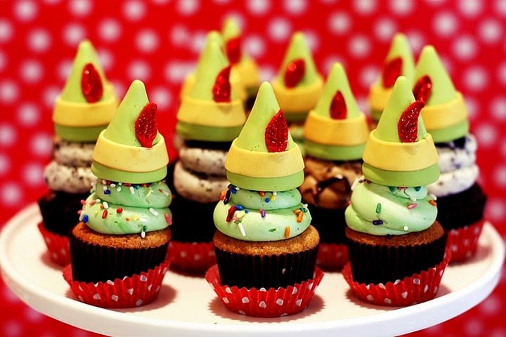 buddy the elf holiday cupcakes
