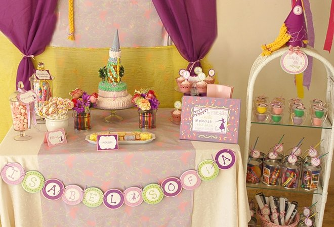 Super Cute Rapunzel Art Party!