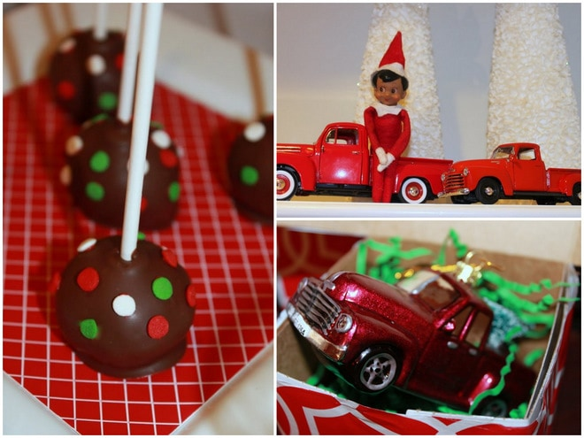 {Christmas} Vintage Red Truck Toy Drive Party + Free Printables